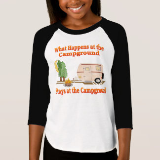 What Happens at the Campground Kid's T-Shirt