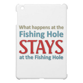 What happens at the fishing hole cover for the iPad mini