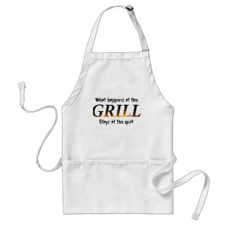 What happens at the GRILL... Adult Apron