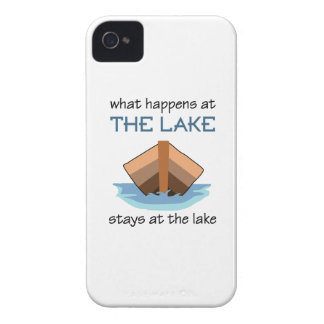 WHAT HAPPENS AT THE LAKE iPhone 4 Case-Mate CASE