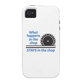 WHAT HAPPENS AT THE SHOP iPhone 4/4S COVERS