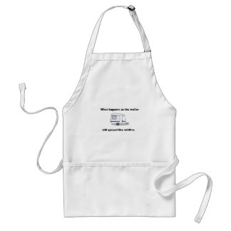 """""""What happens at the trailer...."""" apron"""