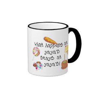 What Happens at YaYa's STAYS at YaYa's! Ringer Mug