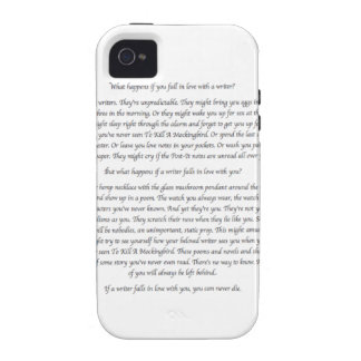 What Happens If You Fall in Love With a Writer? Case-Mate iPhone 4 Cases
