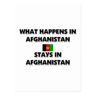 What Happens In AFGHANISTAN Stays There Postcards
