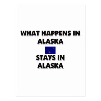 What Happens In ALASKA Stays There Postcard