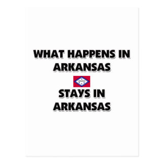 What Happens In ARKANSAS Stays There Postcards