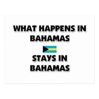 What Happens In BAHAMAS Stays There Postcard