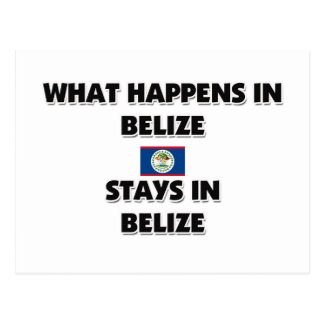 What Happens In BELIZE Stays There Postcard