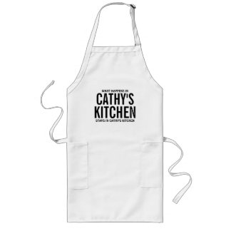 What Happens in Cathy's Kitchen Long Apron