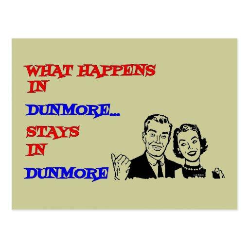What Happens in Dunmore Postcard