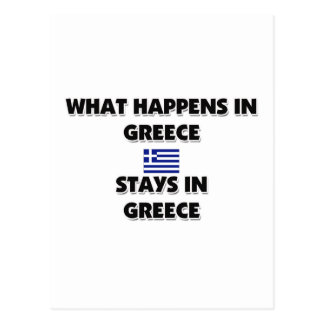 What Happens In GREECE Stays There Post Card