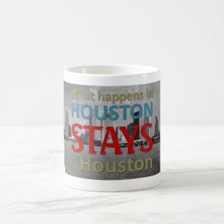 What happens in Houston Classic White Coffee Mug