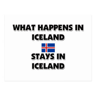 What Happens In ICELAND Stays There Postcard