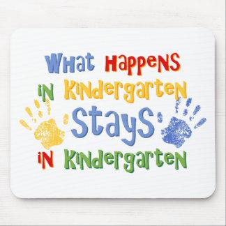 What Happens In Kindergarten Mouse Pad