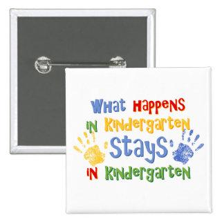 What Happens In Kindergarten Pinback Button