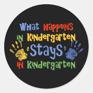 What Happens In Kindergarten Stickers