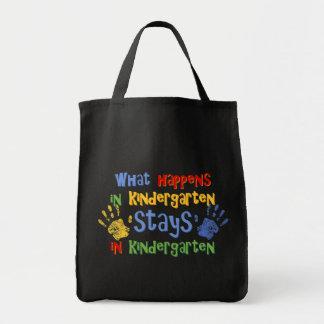 What Happens In Kindergarten Tote Bag
