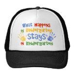What Happens In Kindergarten Trucker Hat