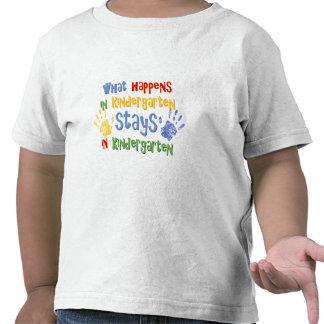 What Happens In Kindergarten Tee Shirts