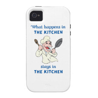 WHAT HAPPENS IN KITCHEN iPhone 4/4S COVER