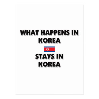 What Happens In KOREA Stays There Post Card