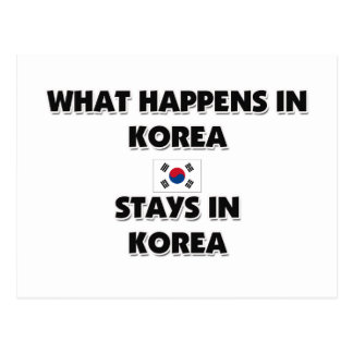 What Happens In KOREA Stays There Postcard