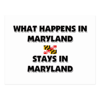 What Happens In MARYLAND Stays There Postcard