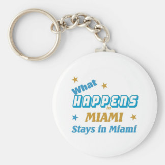 What happens in Miami Keychain