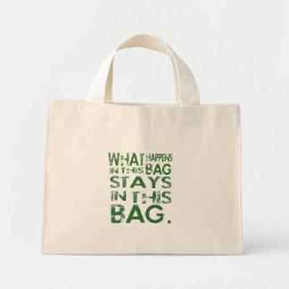 WHAT HAPPENS IN MINI TOTE BAG