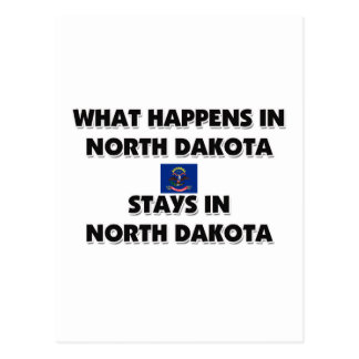 What Happens In NORTH DAKOTA Stays There Postcard