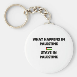 What Happens In PALESTINE Stays There Basic Round Button Keychain