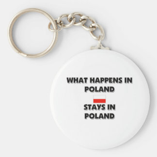 What Happens In POLAND Stays There Key Chain