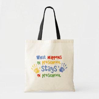 What Happens In Preschool Tote Bags
