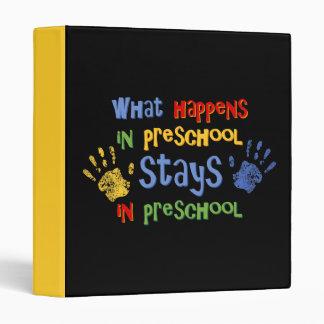 What Happens In Preschool Binder