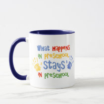 What Happens In Preschool Mug