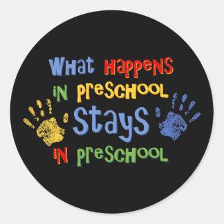 What Happens In Preschool Stickers