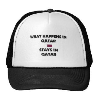 What Happens In QATAR Stays There Trucker Hat
