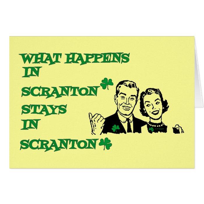 What happens in Scranton Irish Parade Day Shirts Card