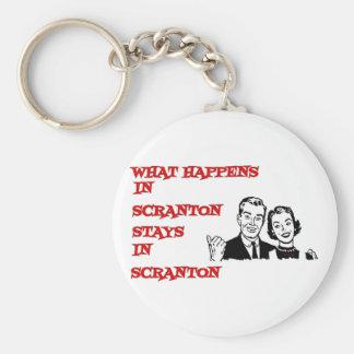 What Happens In Scranton Keychain