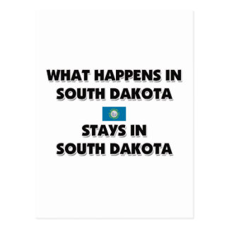 What Happens In SOUTH DAKOTA Stays There Postcard