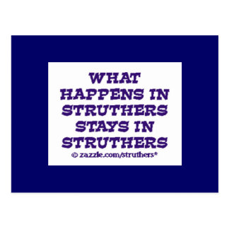 What Happens in Struthers Postcard
