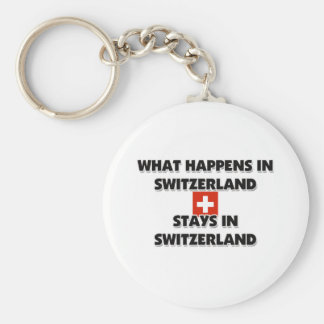What Happens In SWITZERLAND Stays There Key Chain