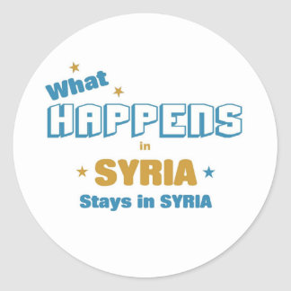 What happens in Syria Classic Round Sticker