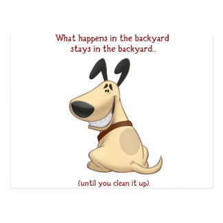What Happens In The Backyard Postcard