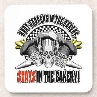 What Happens in the Bakery: Pastry Bags Coaster