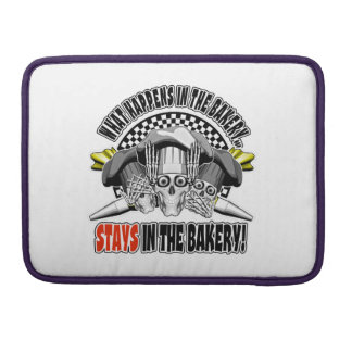 What Happens in the Bakery: Pastry Bags Sleeve For MacBooks