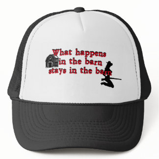 What Happens in the Barn B.png Trucker Hat