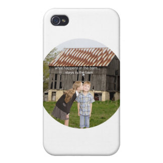 what happens in the barn stays in the barn iPhone 4 case