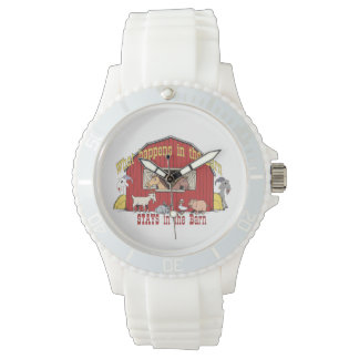What Happens in the Barn Wristwatch